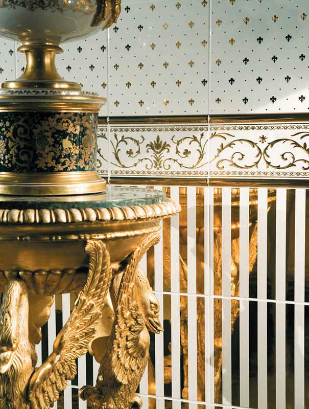 Keramikfliese edel gold
