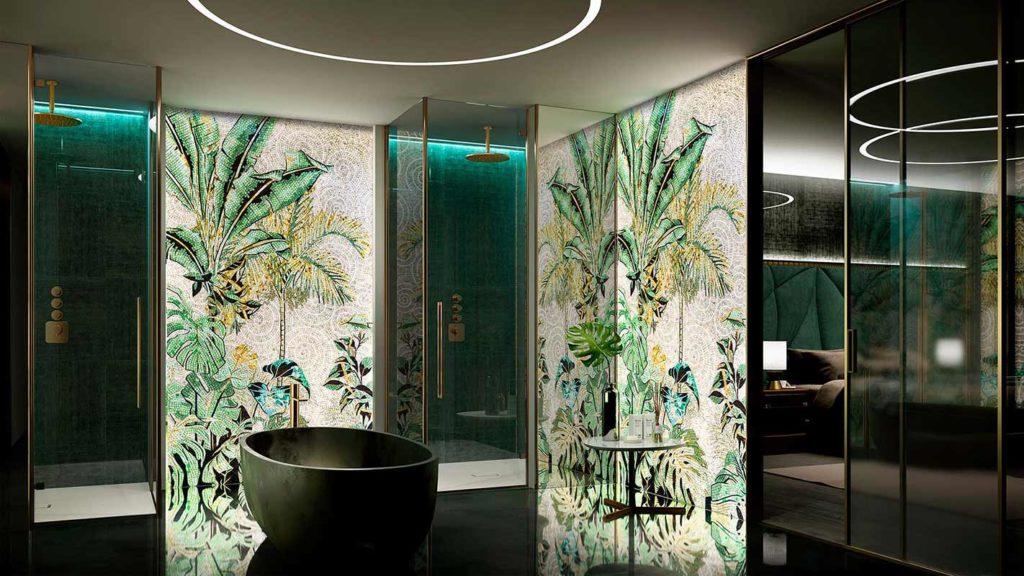 SICIS Mosaik mit Palmenmotiv