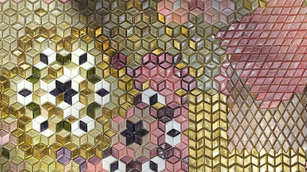 SICIS Mosaik in Rosa und Gelb